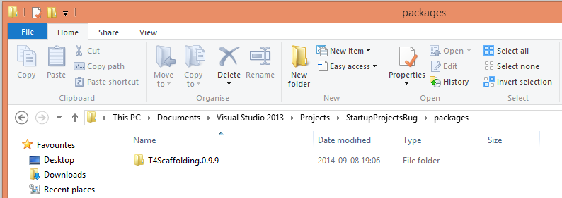 how to create bug from visual studio project
